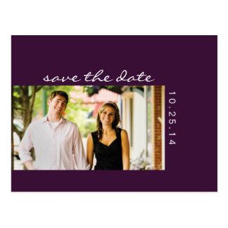 Reserva de la púrpura de la berenjena de la foto l tarjeta postal