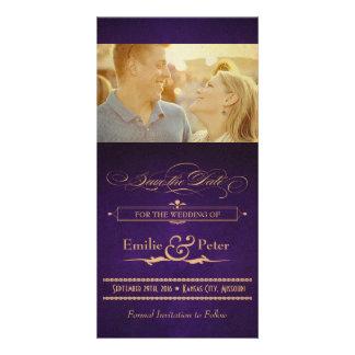 Reserva de la púrpura de la berenjena del poster tarjetas personales