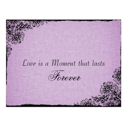 Reserva de la púrpura de la cita del amor del esti postales