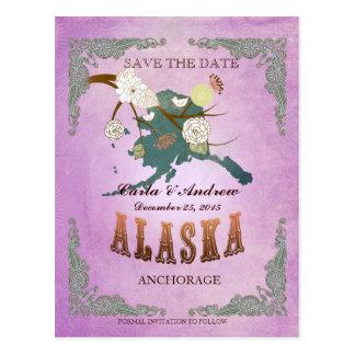 Reserva de la púrpura la fecha - mapa de Alaska Postal