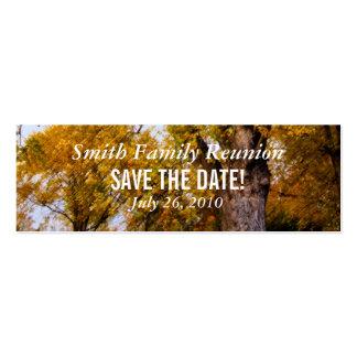 Reserva de la reunión de los árboles de arce la fe plantillas de tarjeta de negocio