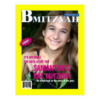 Reserva de la revista de B Mitzvah la fecha Postal