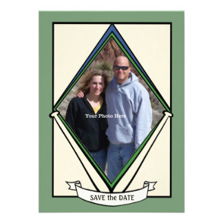 Reserva de la tarjeta de béisbol la fecha comunicado personal
