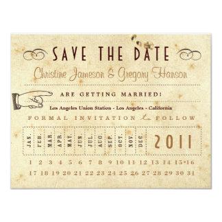 Reserva de la tarjeta de sacador la fecha - invitación 10,8 x 13,9 cm