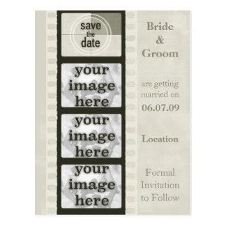 Reserva de la tira de la película del vintage las  tarjeta postal