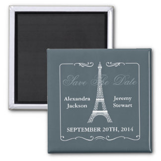 Reserva de la torre Eiffel el imán de la fecha