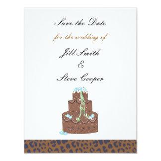 """Reserva de la torta de chocolate la fecha invitación 4.25"""" x 5.5"""""""