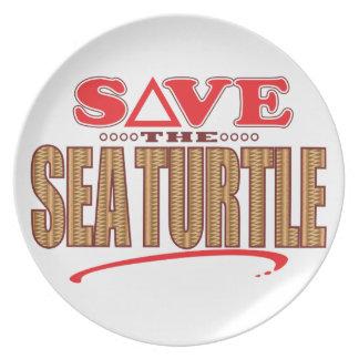 Reserva de la tortuga de mar plato para fiesta