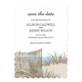 Reserva de las dunas de arena el | la fecha invitación 12,7 x 17,8 cm