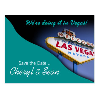 Reserva de Las Vegas la fecha (aguamarina) Postales