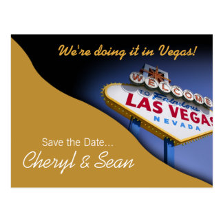 Reserva de Las Vegas la fecha (arena) Tarjeta Postal