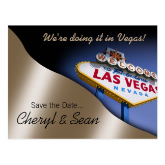 Reserva de Las Vegas la fecha (melocotón metálico) Tarjetas Postales