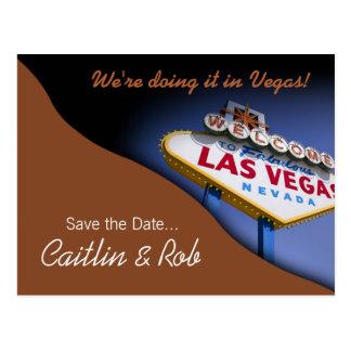 Reserva de Las Vegas la fecha (moca) Tarjetas Postales