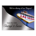 Reserva de Las Vegas la fecha (plata metalizada) Postal