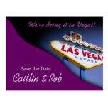 Reserva de Las Vegas la fecha (púrpura) Postal