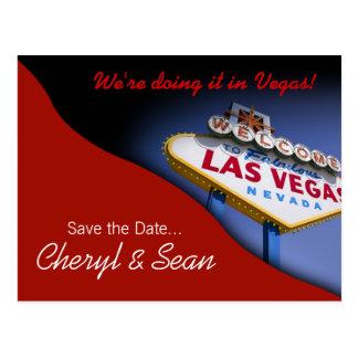 Reserva de Las Vegas la fecha (rojo del tomate) Tarjeta Postal