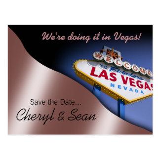 Reserva de Las Vegas la fecha (rosa de color de ma Postales