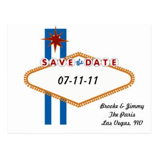 Reserva de Las Vegas la fecha Postales