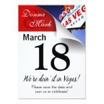 Reserva de Las Vegas la página del calendario de Invitación 12,7 X 17,8 Cm