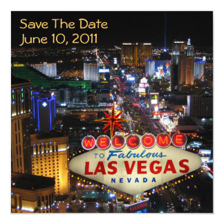 Reserva de Las Vegas las invitaciones de la fecha Comunicados Personalizados