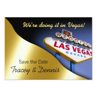 Reserva de Las Vegas que el boda de la fecha Invitación 12,7 X 17,8 Cm