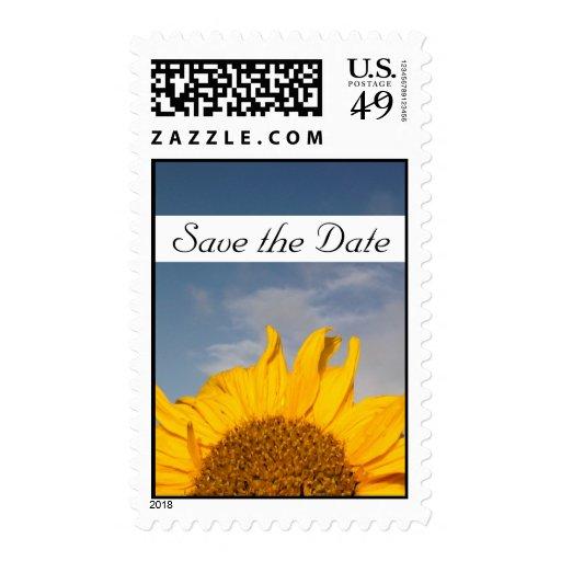 Reserva de levantamiento del girasol la fecha sellos