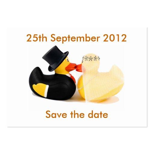 Reserva de los patos 3 del boda… el calendario de  plantillas de tarjetas personales
