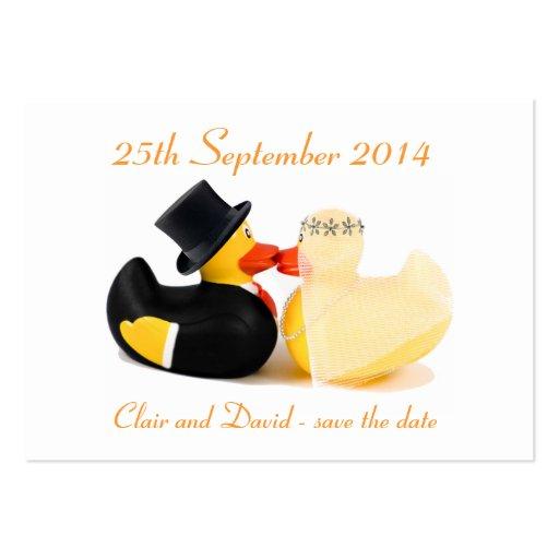 Reserva de los patos 3 del boda… la fecha plantillas de tarjetas personales