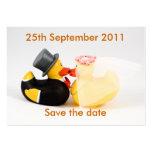 Reserva de los patos del boda… la fecha plantilla de tarjeta personal