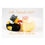 Reserva de los patos del boda… la fecha plantilla de tarjeta de negocio