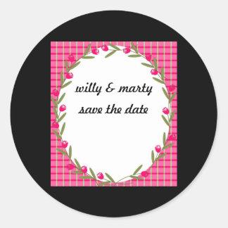 reserva de los pegatinas… la fecha. .cherryberry pegatina redonda