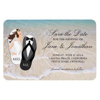 Reserva de lujo del boda tropical del océano de la imanes flexibles