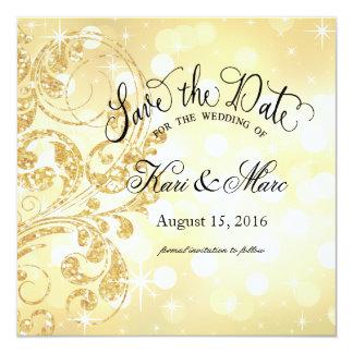 """Reserva de lujo del brillo del encanto el champán invitación 5.25"""" x 5.25"""""""