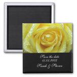Reserva de lujo del rosa amarillo del boda la fech imán