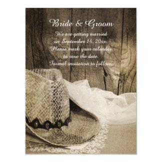 Reserva de madera del boda del país del granero invitaciones magnéticas