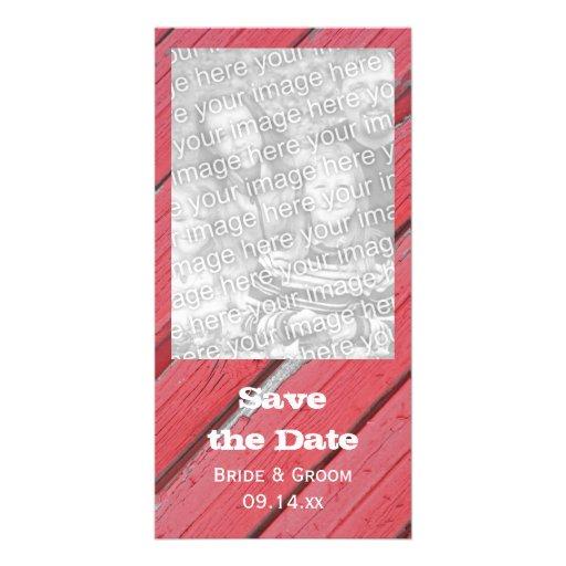 Reserva de madera del boda del país del granero la tarjetas fotograficas
