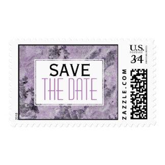 Reserva de mármol púrpura, gris Amethyst del boda Timbre Postal
