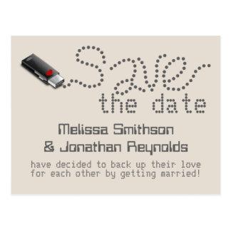Reserva de memoria USB la postal de la fecha