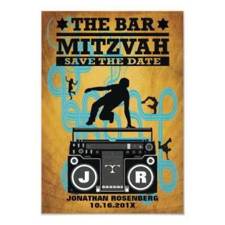 """Reserva de Mitzvah de la barra de Hip Hop la fecha Invitación 3.5"""" X 5"""""""
