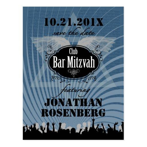 Reserva de Mitzvah de la barra del club la fecha e Postales