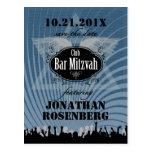 Reserva de Mitzvah de la barra del club la fecha Postal
