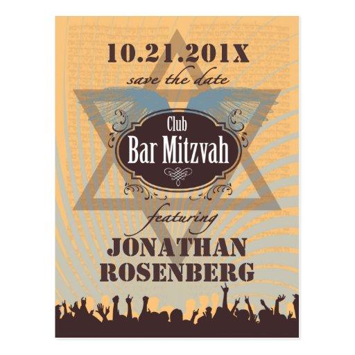 Reserva de Mitzvah de la barra del club la fecha Tarjeta Postal