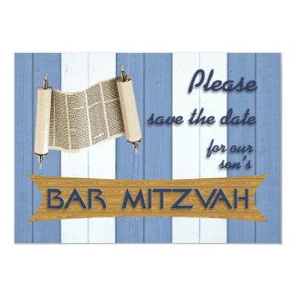 Reserva de Mitzvah de la barra la fecha Invitación 12,7 X 17,8 Cm
