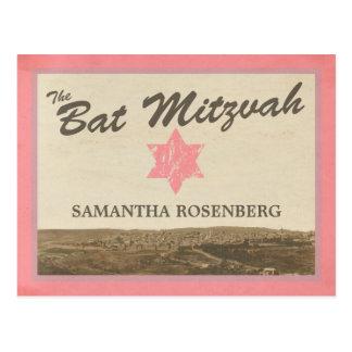 Reserva de Mitzvah del palo de Jerusalén del Postal