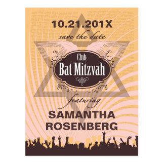 Reserva de Mitzvah del palo del club la fecha Postal