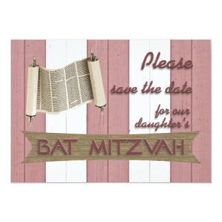 Reserva de Mitzvah del palo la fecha Invitación 12,7 X 17,8 Cm