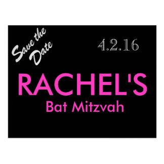 Reserva de Mitzvah del palo la postal de la fecha