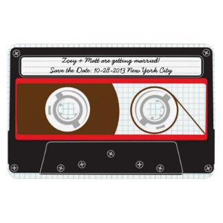 Reserva de Mixtape del indie (rojo/negro) la fecha Imán Rectangular