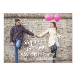 Reserva de moda la plantilla horizontal de la foto invitación 11,4 x 15,8 cm