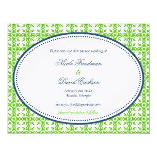 """Reserva de muy buen gusto oval del boda de la invitación 4.25"""" x 5.5"""""""